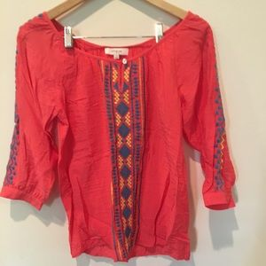 Umgee coral blouse